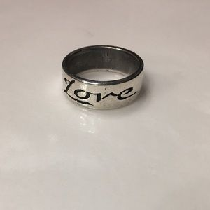 "James Avery sterling silver retired ""love"" band"